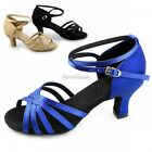 New Hot Women Latin Shoes Ballroom Dance Shoes Satins Suede Bottom 3 Colors SH
