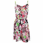 Womens/Ladies Tropical Flower And Leopard Print Short Length Strappy Summer Dres