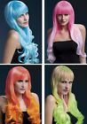"NEW Fever Full Fringe Long Curled Two Tone Wig 28"" Emily - Smiffys Fancy Dress"
