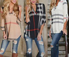 New Fashion Summer Womens Loose Casual Long Sleeve Shirts Blouse Ladies Tee Tops