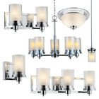 Avalon Polished Chrome Bathroom Vanity, Ceiling Lights & Chandelier Lighting