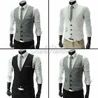 Top Tank Handsome Men's Formal Slim Fit  Waistcoat Vest Casual Business New