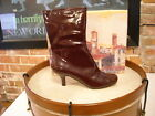 Diego Di Lucca PURPLE PATENT ANKLE BOOTS NEW