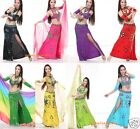 Brand New Sexy Belly Dance Costume Set 5PCS(Bra, Skirt, Necklace And Sleeves)