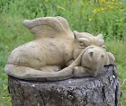 "Dragon garden ornament frost proof stone ""Merlin"" sleepy dragon mythical"