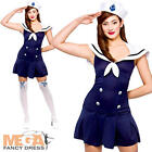 Ahoy Sailor Ladies Fancy Dress Navy Military Uniform Seas Womens Adults Costume