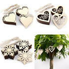 20pcs LASER CUT MDF WOODEN WOOD CRAFTS SHAPE ARTS DECORATION MANY PATTERN