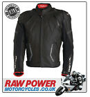 Richa Mugello Leather Motorcycle Motorbike Jacket - Black