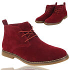 New Mens Suede Desert Ankel Boots Lace Up Casual Boots Shoes UK Size 7 8 9 10 11