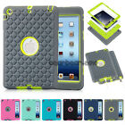 3 in 1 Crystal Hybrid Shockproof Heavy Military Case Cover For iPad Mini 1 2 3