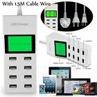 Power Strip With 8 Port USB Desktop Rapid Intelligent Wall Charger LCD Display