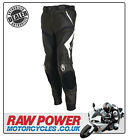 Richa Mugello Leather Motorcycle Motorbike Trousers - Black/White