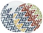 1 Corelle ZAMBA Choose: DINNER or LUNCH PLATE *Zig-Zag BLUE RED GOLD GREEN *New