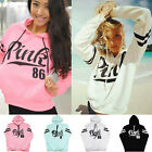 New Women's Long Sleeve Hoodie Sweatshirt Casual Loose Pullover Tops Shirt Coat