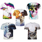 Men's T-shirt With 3D Duplex Printings Short Sleeves T-shirt Tide Male Tee AU