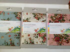 Craft Fabric Material 100% Cotton - FLORAL - 1 piece 45cm x 50cm - 3 colours