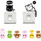 Animal Wall Stickers Light Switch Decor Decals Art Mural Living Room Home Decor