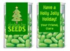 Christmas Holiday Tree Seeds Mint Mints Party Favors Labels Personalized Custom