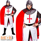 Richard the Lionheard Costume Mens Fancy Dress Medieval Adults Costume Outfit