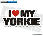 Yorkie I Love My Dog Decal Yorkshire Terrier Dogs Car Truck Window Sticker WRS
