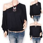 Sexy One / Off Shoulders Wide Sleeves Boho Top Blouse