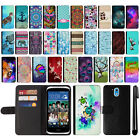 For HTC Desire 526 Design Flip Wallet Card Leather POUCH Case Phone Cover + Pen