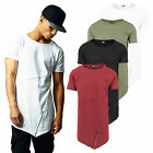 Urban Classics ZIP T-Shirt Long Shape Open Edge extra lang oversize Shirt TB1226
