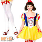 Snow White + Stockings Ladies Fancy Dress Womens Fairytale Princess Costume New