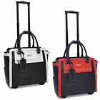 Cabrelli Talula Two Tone Womens Rolling Laptop Briefcase Wheeled Case Bag 716035