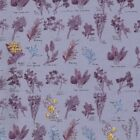 JANE MAKOWER HERBS LILAC  FLORAL 100% COTTON FABRIC quilting dressmaking