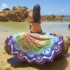 Indian Hippy Flowers Mandala Wall Hanging Beach Throw Towel Picnic Blanket Shawl