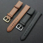 New Quality Leather Black Brown Wristwatch Watch Strap Band Womens Mens image