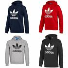 ADIDAS ORIGINALS TREFOIL HOODIE HOODY PULLOVER SIZES S - XL BLACK RED GREY NAVY