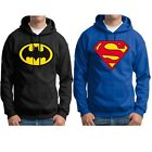 Men Supermen Batman Hero Hoodie Jacket Sport Hoodies Tops Sweatshirts TrackSuit