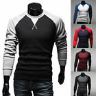 New Men's Fashion Casual Slim Fit Crew-neck Long Sleeve Tops Tee T-shirt Hot