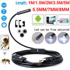 5.5mm 7mm 8mm Android Endoscope Snake Borescope USB Inspection Camera 6 LED IP67