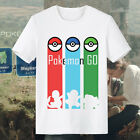 Pokemon T-shirts for Men Women Pokemon Go Charmander Squirtle Bulbasaur Pokémon