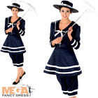 Old Time Bathing Suit Ladies Fancy Dress 1920s Victorian Womens Adult Costume