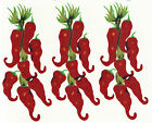 Ceramic Decals Red Chili Peppers Hanging Bunch (B)  Vegetable image