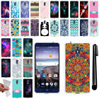 For ZTE Grand X Max 2 Kirk Z988 Imperial Max Z963U TPU SILICONE Case Cover + Pen