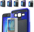 Tempered Glass+Rugged Digital Hybrid Case Cover For Samsung Galaxy On5 SM-G550