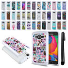 For Samsung Galaxy Avant G386T Anti Shock Studded Bling HYBRID Case Cover + Pen