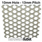 PERFORATED Stainless Steel 10 MM Dia Hole Sheet Metal Cut Sizes 50x50 - 300x200