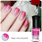 Magic Temporature Discoloration Color Holographic Holo Glitter Nail Polish