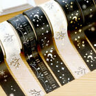 Christmas Set Gold Foil Printing Japanese Washi Paper Tape 15mm X 5m