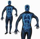 S M L XL Xray 2nd Skin Suit Skeleton Costume Mens Fancy Dress Outfit Halloween