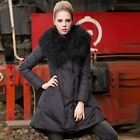 hot new Womens Fur Collar Winter Down Jacket Loose Long Parka Coat warm fashion