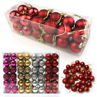 24pcs Christmas Tree Glitter Baubles DIY Xmas Party Hanging Craft Ball 3CM US