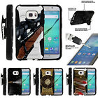 For Samsung Galaxy S7 G930 Clip Stand Case + Tempered Glass - Sniper