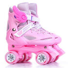 Safety Quad Roller Skates Kids 4 Wheels Rollerskate Children Speed Skating Shoes